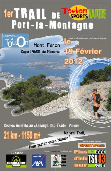 En février, participez au 1er Trail de port-la-montagne à Toulon.