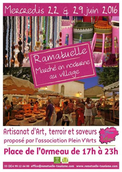 Marché en nocturne au village - Ramatuelle