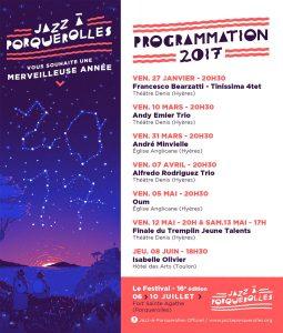 Programmation 2017 Jazz à Porquerolles