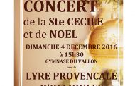 Concert de la Ste Cécile et de Noël Lyre Provençale Ollioules