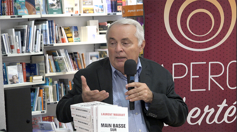 Main basse sur l'information, Laurent Mauduit à Toulon