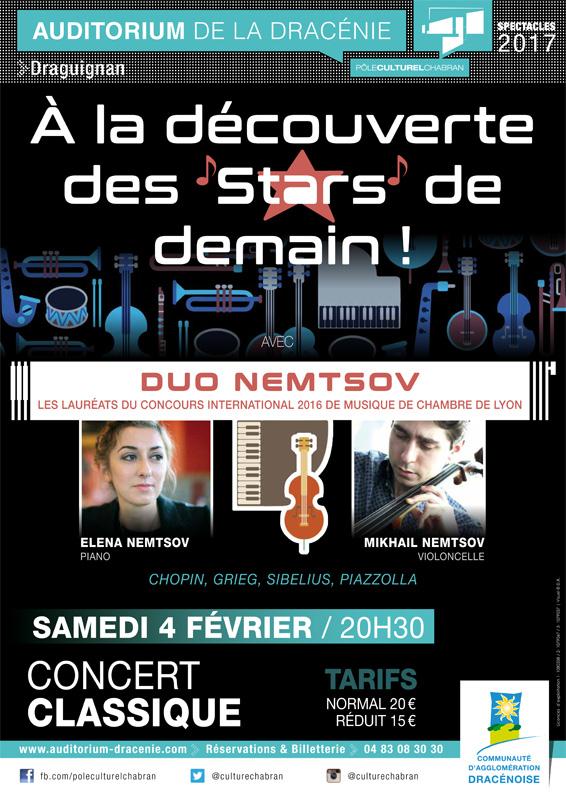 L'Auditorium de la Dracénie présente A la découverte des stars de demain