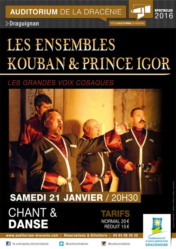 L'Auditorium de la Dracénie présente Les ensembles Kouban et Prince Igor