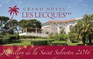 Réveillon de la Saint Sylvestre au Grand Hôtel Les Lecques à Saint-Cyr-sur-Mer