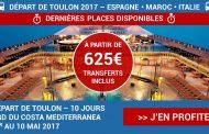 COSTA MEDITERRANEA départ du 01/05/2017 – valable jusqu'au 06/02/2017