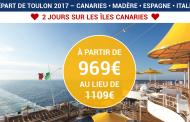 Les Îles Canaries à bord du COSTA FAVOLOSA au départ de TOULON