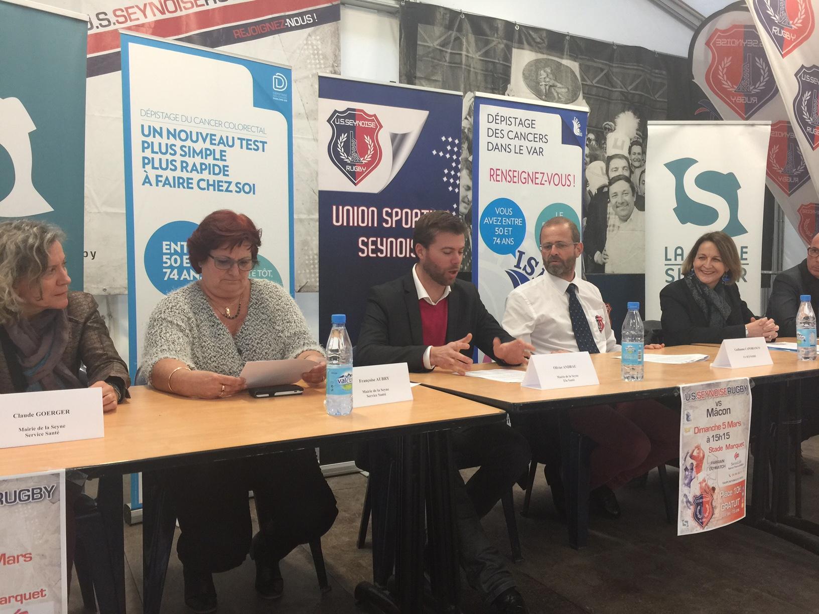 Rugby : Mars bleu à La Seyne avec une action de sensibilisation au dépistage du cancer colorectal
