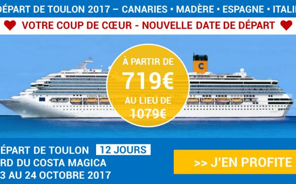 Les îles Canaries en croisière au départ de TOULON à partir de 719€