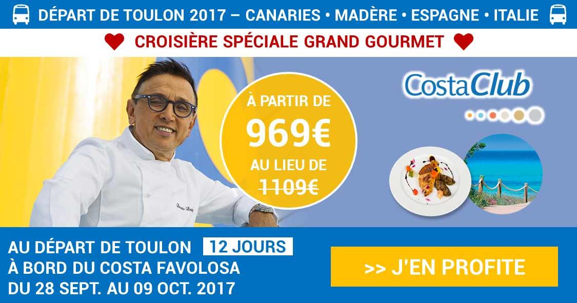 Croisière Grand Gourmet avec le chef Bruno Barbieri