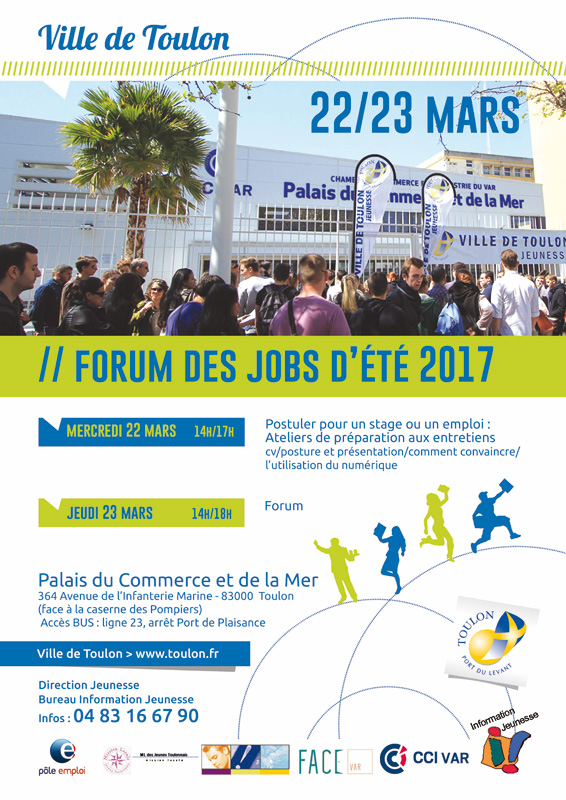 La Ville de Toulon vous donne rdv au 4e Forum jobs d'été