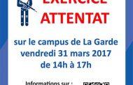 EXERCICE attentat sur le campus universitaire de La Garde