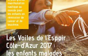 Les Voiles de l'Espoir 2017 au départ de la Côte d'Azur