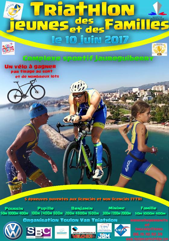 Triathlon des jeunes et des familles à Toulon