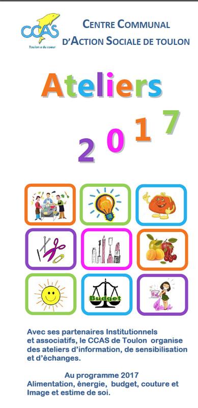 CCAS de Toulon : Ateliers d'information 2017