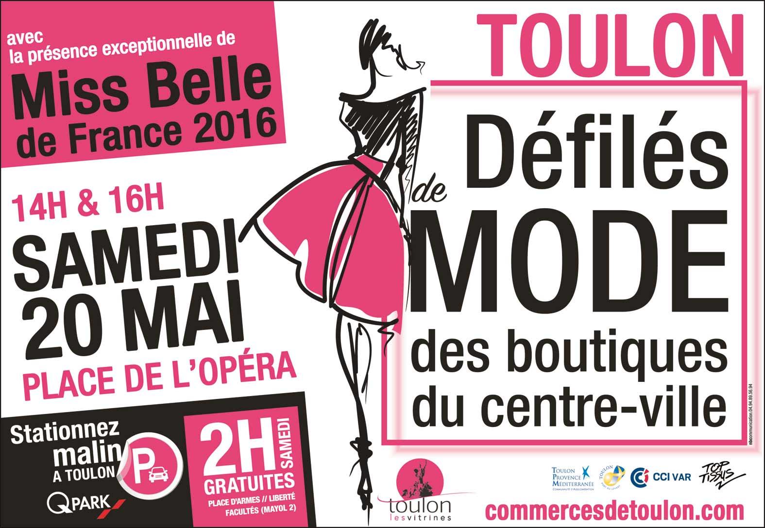 Défilé de mode des boutiques du centre-ville de Toulon