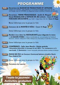 Programme de la Fête du terroir et de l'artisanat à Carnoules