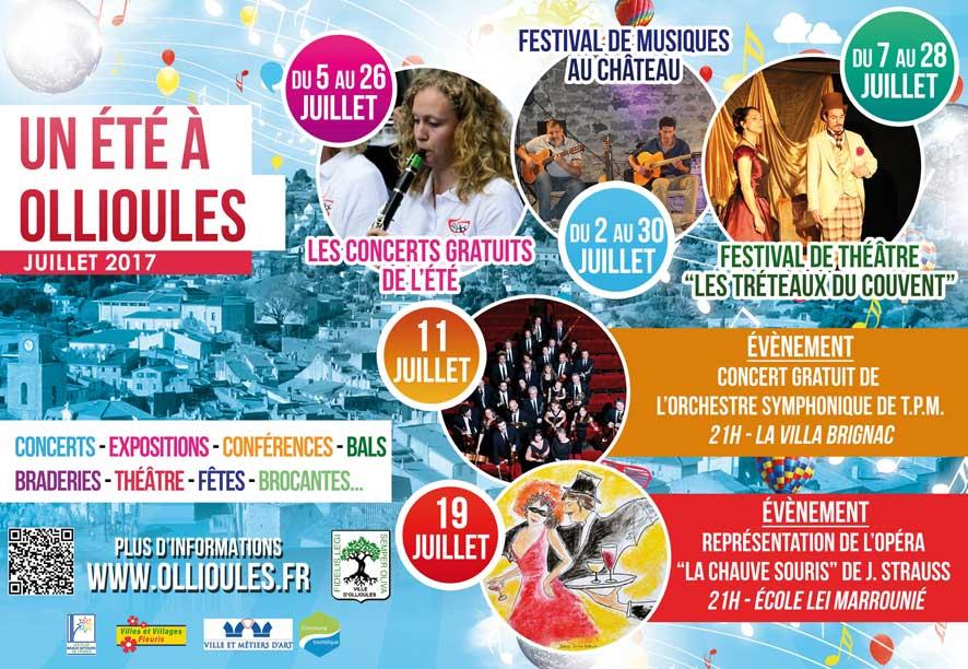Théâtre et Musique à Ollioules cet été