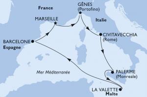 Croisière du réveillon avec Cap Croisères - Itinéraire