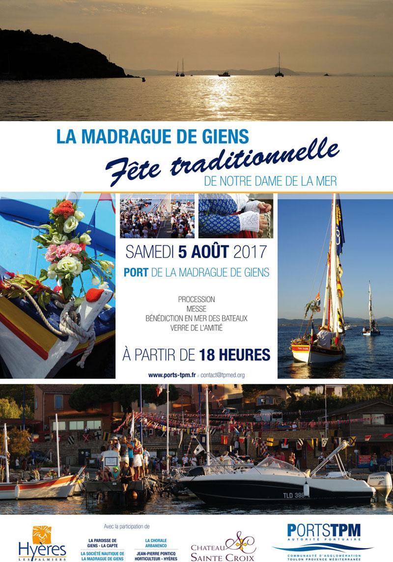 Port de la Madrague de Giens : fête traditionnelle de Notre Dame de la Mer