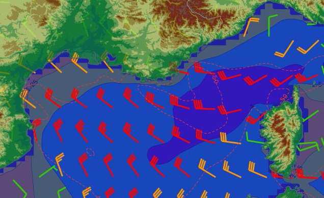 Vents violents sur les côtes méditerranéennes