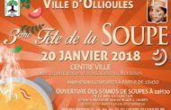 Fête de la soupe à Ollioules, c'est samedi 20 janvier 2018.