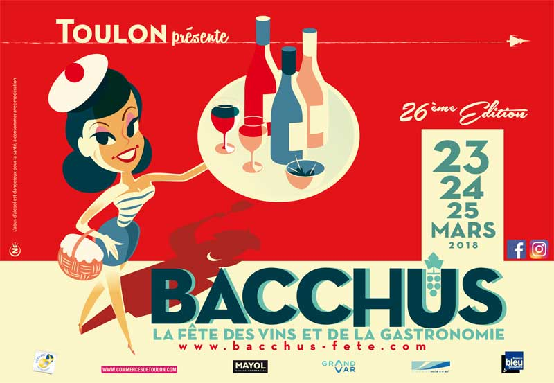 Bacchus à Toulon : 26ème édition de la fête des vins & de la gastronomie