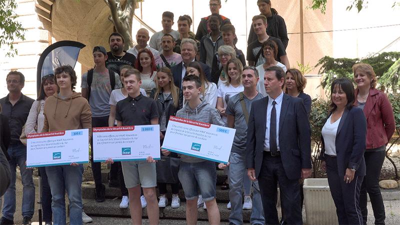 Finale des Olympiades de la Sécurité Routière du Var avec les apprentis de l'URMA PACA