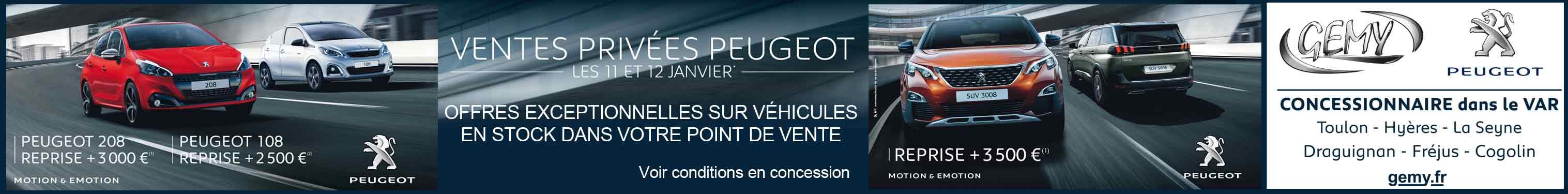Gemy Peugeot concessionnaire dans le Var