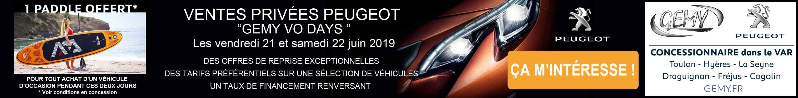 Ventes privées Peugeot Gemy