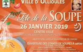Samedi 26 janvier : 4é édition de la fête de la soupe à Ollioules
