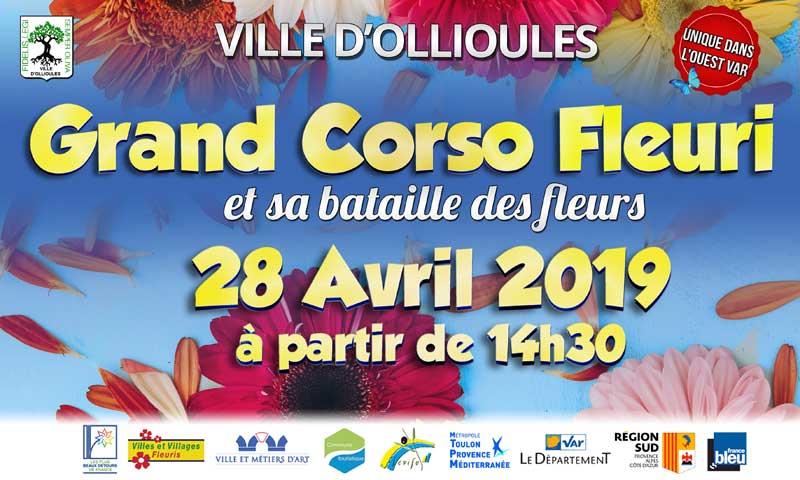 Corso fleuri et sa bataille de fleurs à Ollioules les 27 et 28 avril