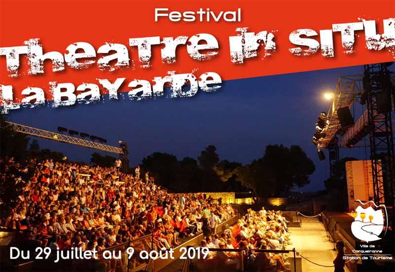 Festival Théâtre In Situ - La Bayarde du 29 juillet au 9 août 2019 à Carqueiranne