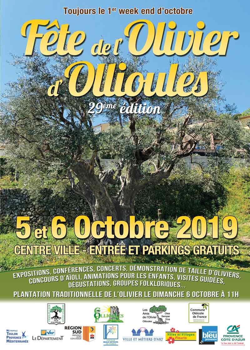 Fête de l'Olivier d'Ollioules, les 5 et 6 octobre 2019