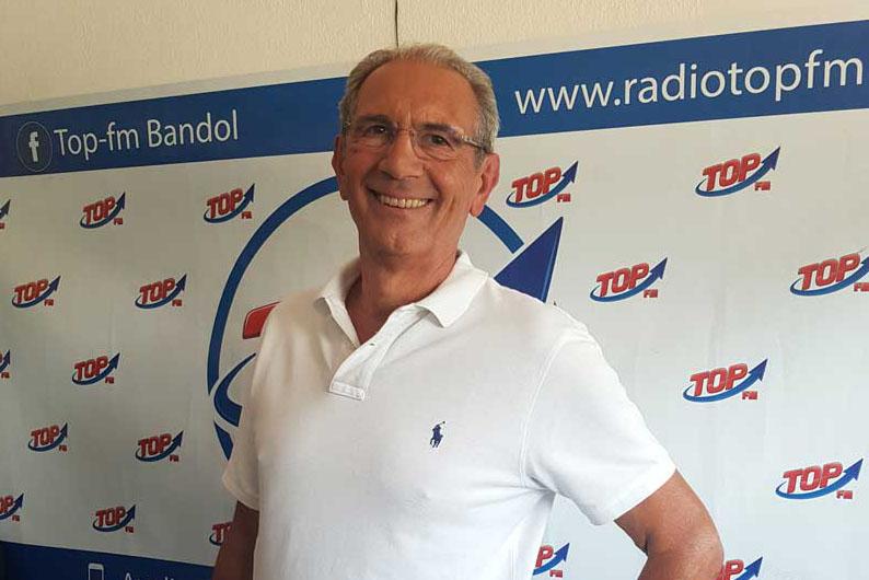 INFO 83 et radio Top FM reçoivent Jean Marie Schneider pour Bandol polar connection, 3ème édition. INFO83 Top le mag, radio Top FM