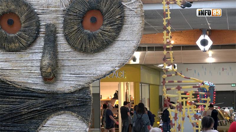 Centre Commercial Ollioules Toulon Ouest  Exposition  Animô de Samuel Stento, vidéo
