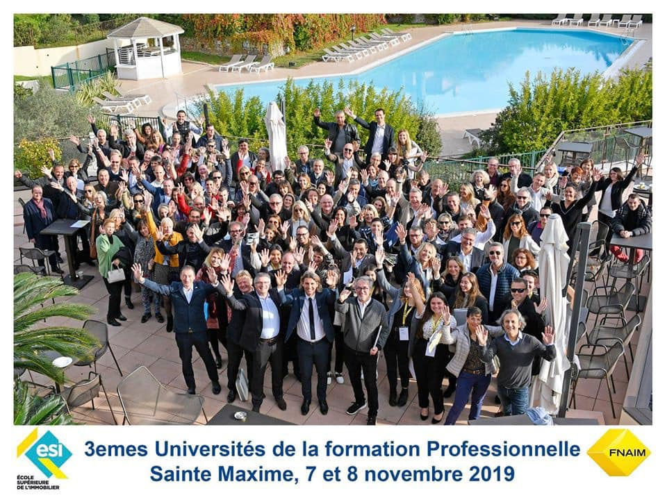 Formation professionnelle FNAIM Var, en novembre 2019 à Sainte Maxime