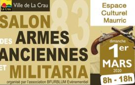 Salon des Armes Anciennes et Militaria, dimanche 1er mars 2020 à La Crau