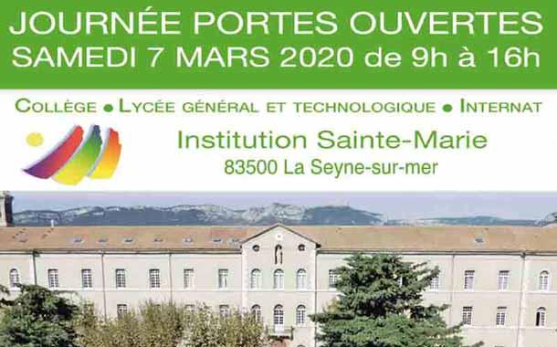 Journée Portes Ouvertes à l'Institution Sainte-Marie de la Seyne-sur-Mer, le samedi 7 mars 2020