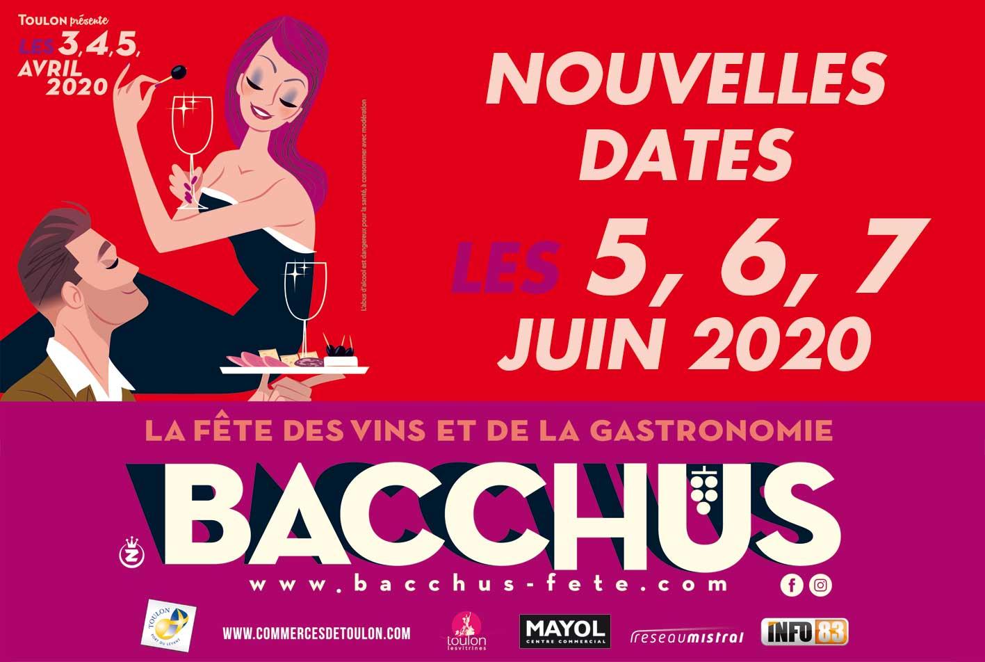 Juin 2020 à Toulon : Bacchus, fête des vins et de la gastronomie