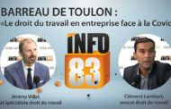 """#1 Emission du Barreau de Toulon : """"Le droit du travail en entreprise face à la Covid»"""