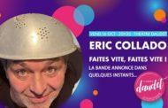 Eric Collado au Théâtre Daudet à Six-Fours, le 16 octobre 2020