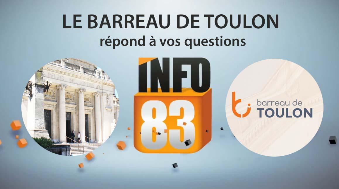 Le Barreau de Toulon répond à vos questions