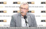 Interview de Roland Rolfo, président de la Chambre de métiers et de l'artisanat du Var