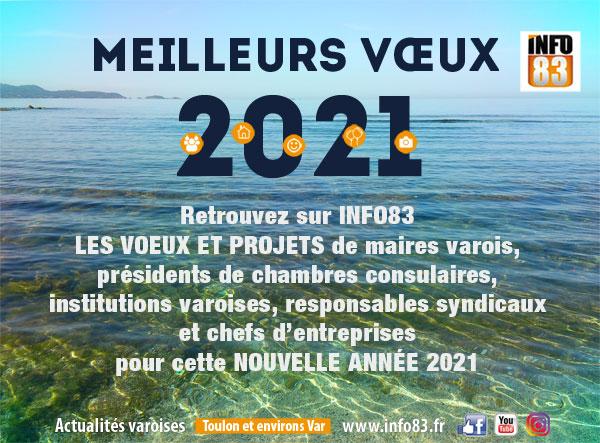 Voeux 2021 : des maires et des institutions du Var invités par INFO83