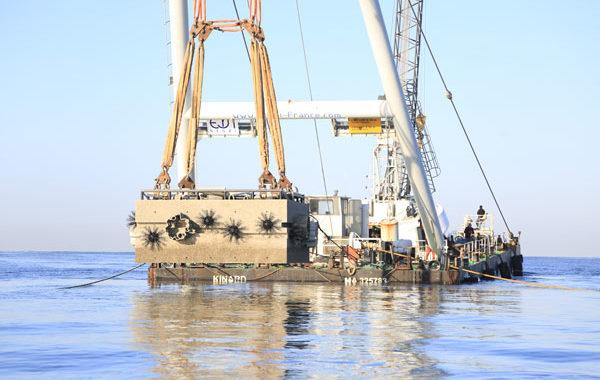 Sanary sur mer : mise en place d'un coffre d'amarrage