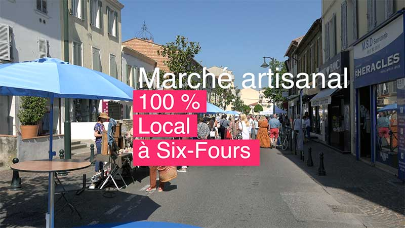 Un marché artisanal 100 % local à Six-Fours