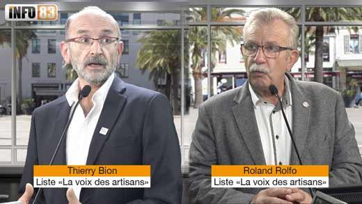 Roland Rolfo et Thierry Bion, candidats à la Chambre de Métiers du Var