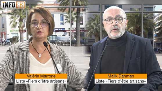Election Chambre de métiers du Var, liste